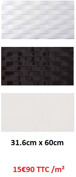 CARRELAGE 30x60 NOIR ET BLANC PAS CHER | CARRELAGE METZ 57